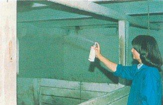 Bekæmpelse af stuefluer i stald med aerosoler